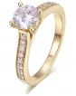 Hafeez Brilliant-Cut Halo Moissanite Engagement Ring