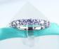 6Grape Moissanite Diamond Wedding Band
