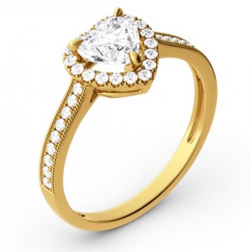 Jeulia Heart-Cut Moissanite Engagement Rings