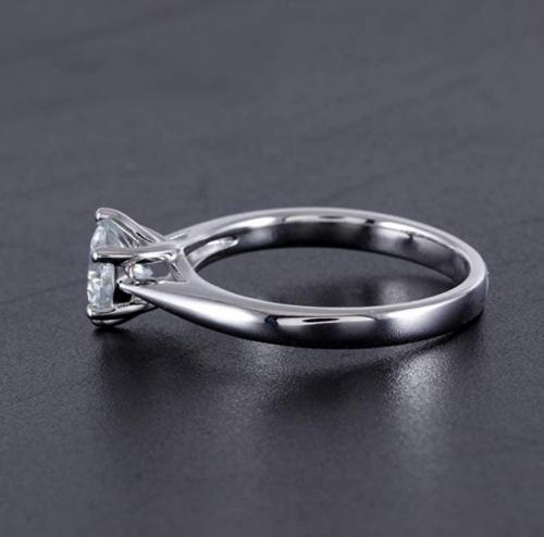 DovEggs Moissanite Engagement Ring