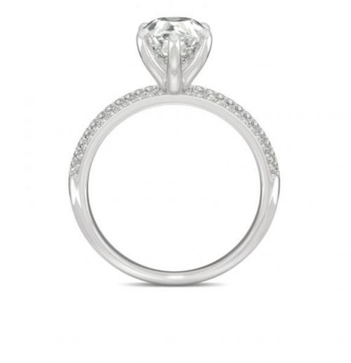 Charles & Colvard  pear-shaped ring