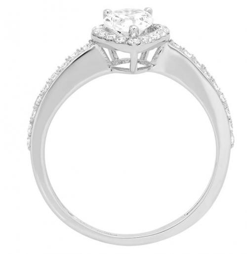 Clara Pucci Teardrop Ring