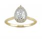 Charles & Colvard Signature Pear Engagement Ring