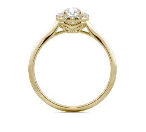 Charles & Colvard Signature Pear Engagement Ring Profile