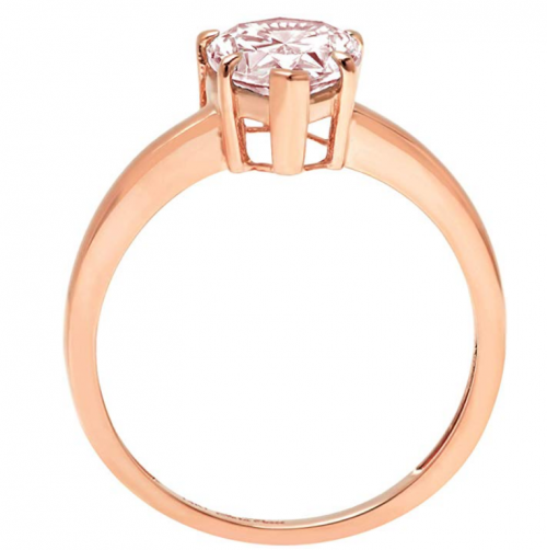 Clara Pucci pink diamond engagement ring