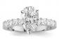 Houston Diamond District Pear Shaped Diamond Engagement Ring