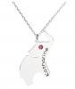 Jeulia Elephant Necklace with Birthstone