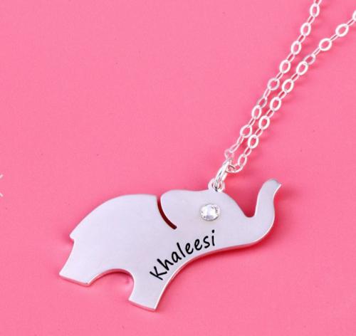 Jeulia elephant necklace