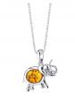 Ruby & Oscar Baltic Amber Elephant Necklace