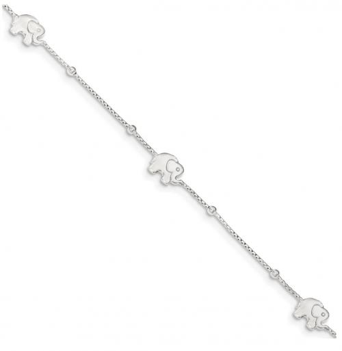 Black Bow Jewelry Co. Elephant Charm Anklet