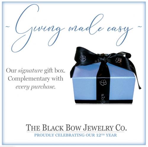 Black Bow Jewelry Gift Box