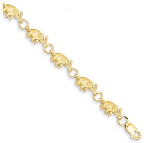 Black Bow Jewelry Co. 14k Yellow Gold Elephant Bracelet
