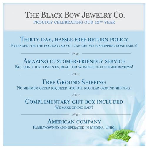 Black Bow Jewelry money back guarantee