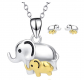 Angel Caller Elephant Necklace and Earrings Set