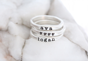 Our Favorite Custom Personalized Name Rings!