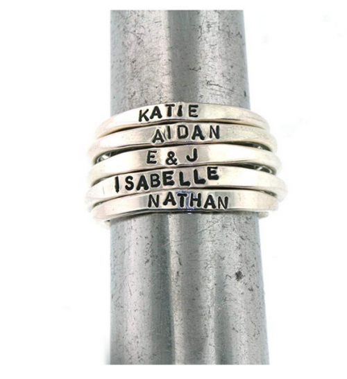 Teeny Tiny Stacking Sterling Silver Ring By Hannah Design