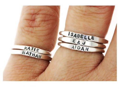 Hannah Design custom name rings