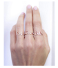 Caitlyn Minimalist Custom Name Ring in 925 Sterling Silver