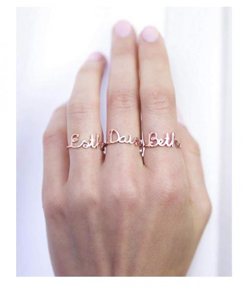 CaitlynMinimalist Custom Name Ring in 925 Sterling Silver