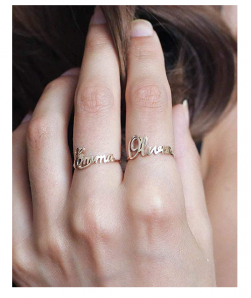 CaitlynMinimalist personalized name ring