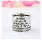 Stamped Love Dainty Name Ring