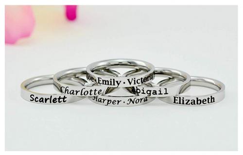 Stamped Love custom rings