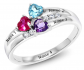 Gem Stone King 3-Name Ring