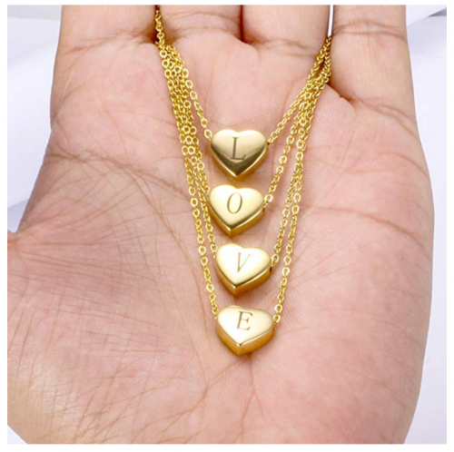 18K Gold Pleated Letter Necklace