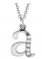 Dazzlingrock Collection 10K Diamond Letter Necklace