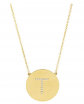 Sterling Forever Gold Vermeil & CZ Round Initial Necklace