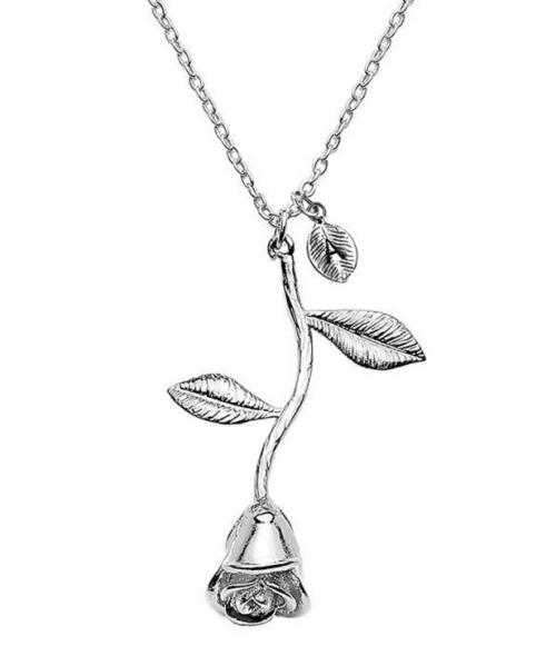Jeulia Silver Letter Necklace