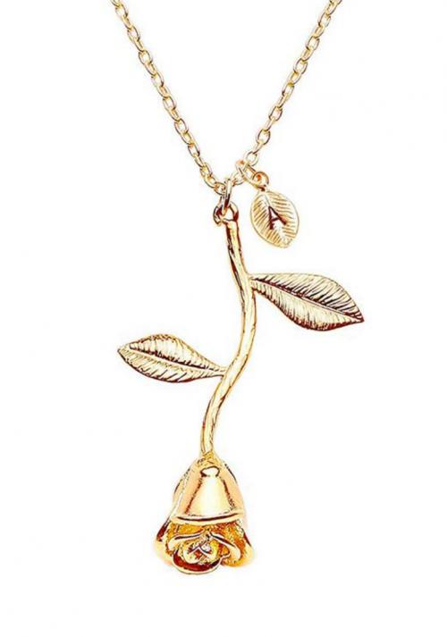 Jeulia Gold Letter Necklace