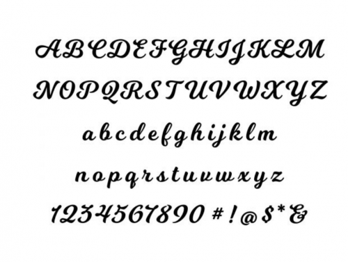 Cahrles and Colvard choice of fonts for letter necklace