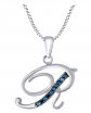 AFFY Blue Diamond Initial Necklace