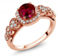 Gem Stone King Created Ruby Engagement Ring