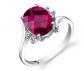 Ruby & Oscar Ruby & Diamond Bypass Ring