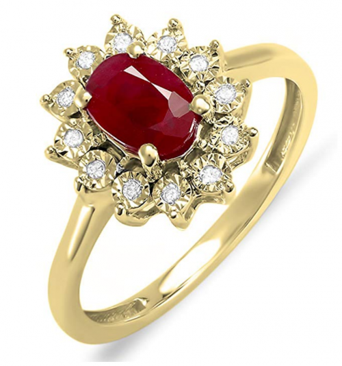 Dazzlingrock Collection Royal Ruby Engagement Ring