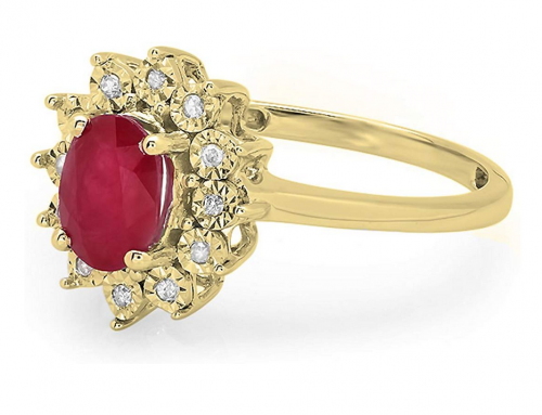 Dazzlingrock Collection Royal Ruby Engagement Ring from Side