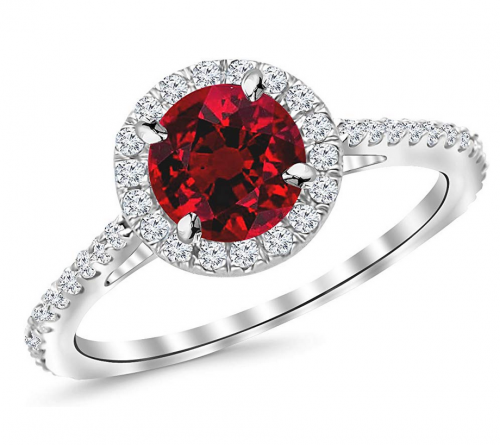 Houston Diamond District Classic Ruby Engagement Ring