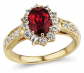 Diamond Classic Jewelry Yellow Gold Ruby Ring