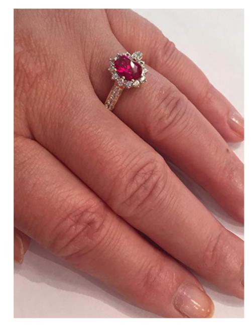 Diamond Classic Jewelry Yellow Gold Ruby Ring on Hand