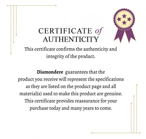 Diamondere Certificate of Authenticity
