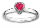 Black Bow Jewelry & Co Sterling Silver & Ruby Heart Ring