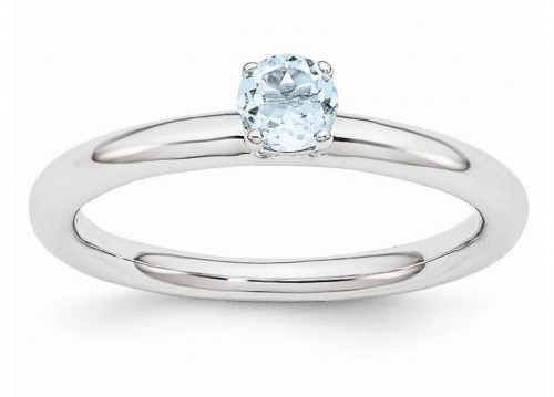 Black Bow Jewelry & Co. Sterling Silver Aquamarine Ring