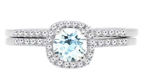 Dazzlingrock Collection Aquamarine Engagement Ring