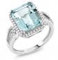 Gem Stone King Antique Aquamarine Engagement Ring
