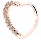 OUFER Heart-Sharped Helix Earring