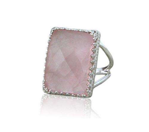 Anemone Elegant Rose Quartz Ring