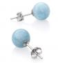 Belacqua Natural Gemstone Stud Earrings