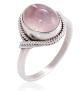 Chuvora 925 Sterling Silver Rose Quartz Vintage Ring